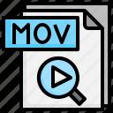 mov, file, folder, computer, shotcut