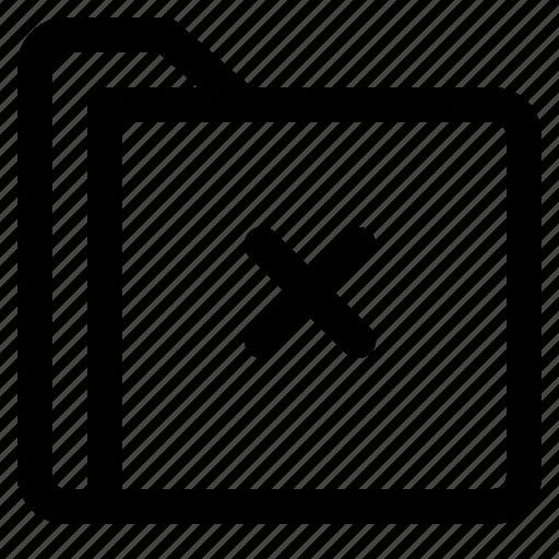 cross, document, file, folder, format icon