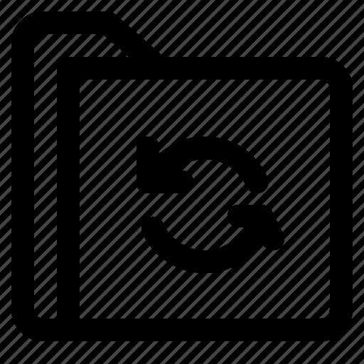 document, file, folder, format, refresh icon