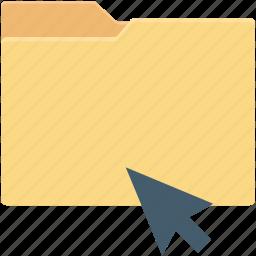 click, cursor, data folder, data storage, folder icon