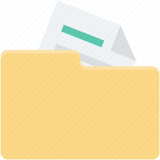 archives, books, computing, documents, file folders icon