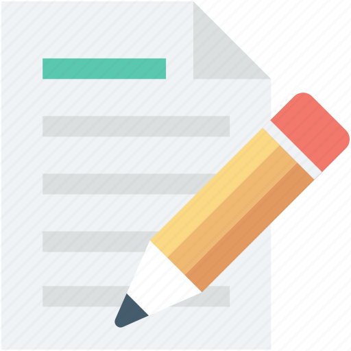 edit document, edit file, editor, file, pencil icon