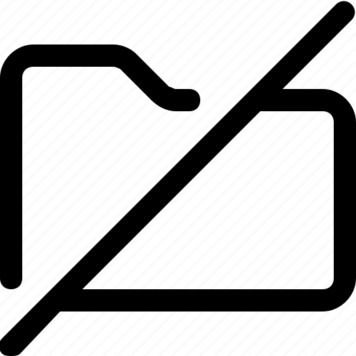 archive, data, folder, slash icon