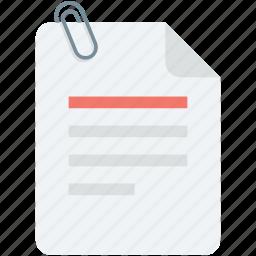 attach paper, attachment, paper, paper clinch, paperclip icon