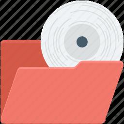 data storage, folder, multimedia folder, music folder, video folder icon