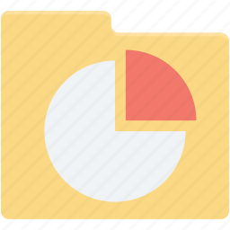 chart folder, diagram folder, folder, graph storage, pie chart icon