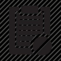 block, checklist, clipboard, files, lines, prohibited icon