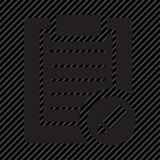 change, checklist, clipboard, edit, files, pen icon