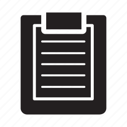 checklist, clipboard, files, lines icon