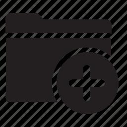 add, files, folder, new, plus icon