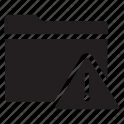 alert, files, folders, warning icon