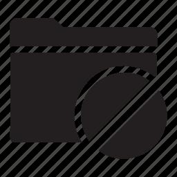 block, files, folders, prohibited icon