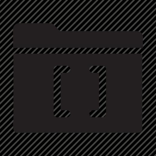 brackets, files, folders, lines icon