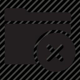 cancel, checkmark, delete, files, folders, no icon