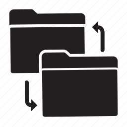 arrow, copy, exchange, files, folders, replace icon