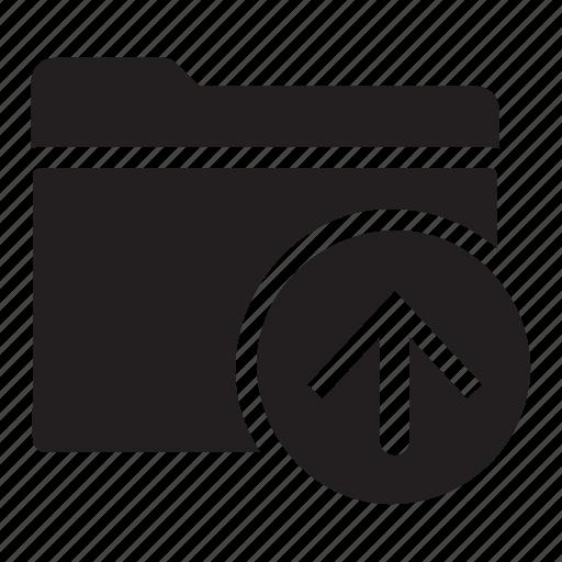 arrow, files, folders, move, up icon