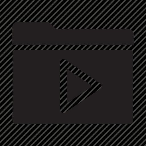 files, folders, movie, multimedia, music, play icon