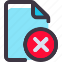 delete, document, file, paper icon