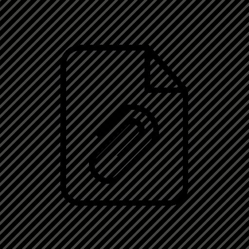 attach file, attachment, attachment file, clip icon, file, file attachment, paper clip icon