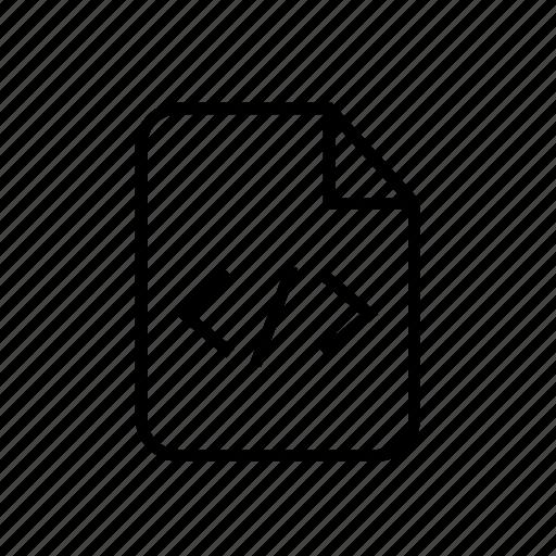 code, code file, file, file code, file extension, program file, programming file icon