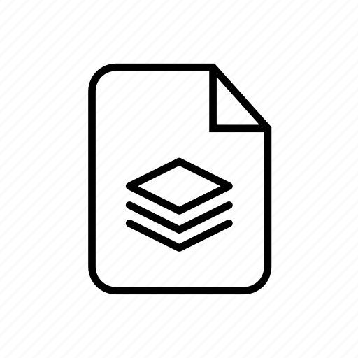 file, file layer, layer, layer file, layer icon, stack file icon