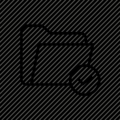 approve, approved folder, folder, folder approve, folder approved, folder check, folder confirm icon