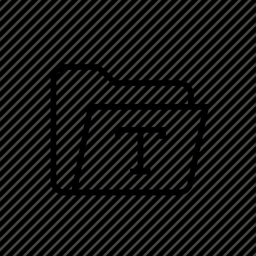 folder, folder font, folder text, folder type, font, font folder, typography icon