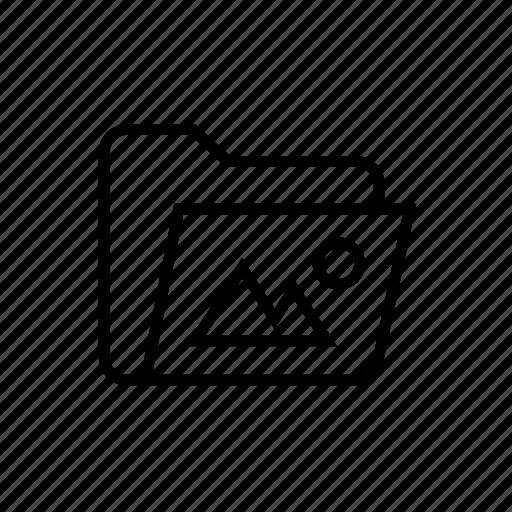 folder, folder image, folder photo, folder picture, image, image folder, photo folder icon