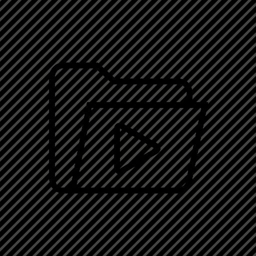 folder, folder media, folder sound, folder vdo, media, media folder, vdo folder icon