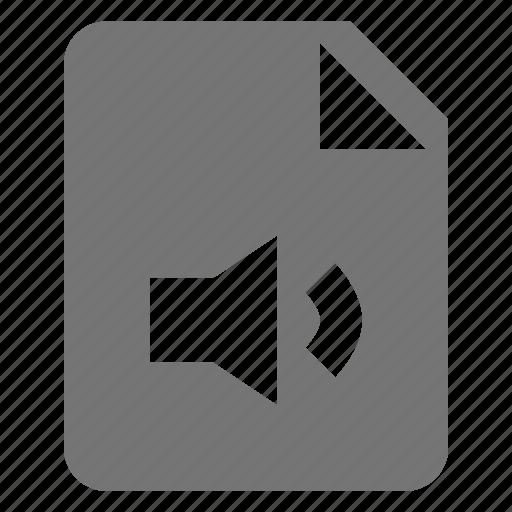 audio, file, sound, volume icon