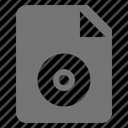 audio, disc, file icon
