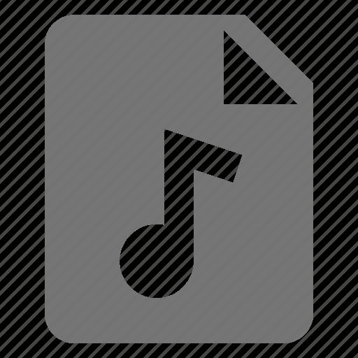 audio, file, music icon