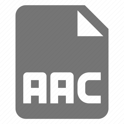 aac, audio, extension, file, music icon