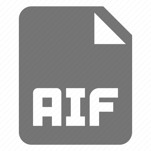 aif, audio, extension, file, music icon