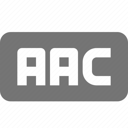 aac, audio, extension, music icon