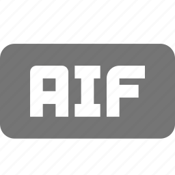 aif, audio, extension, music icon