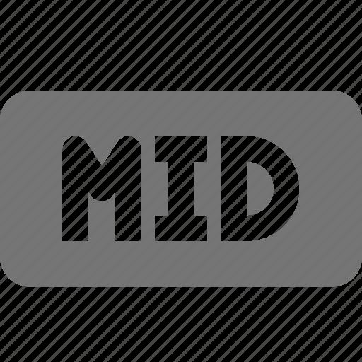 audio, extension, mid, music icon