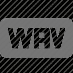audio, extension, music, wav icon