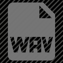 audio, extension, file, music, wav icon