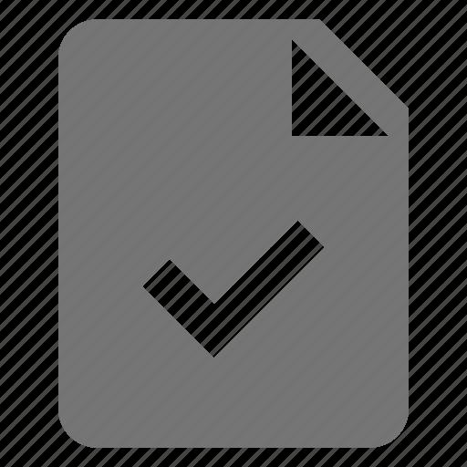 check, file, select icon