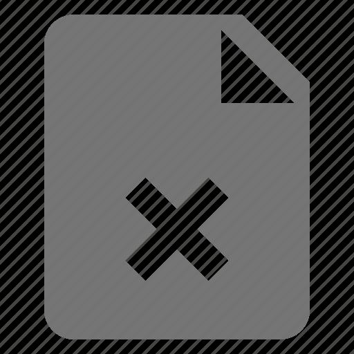 close, delete, file, remove icon