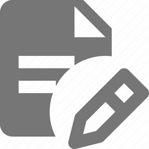 edit, file, pencil, text icon