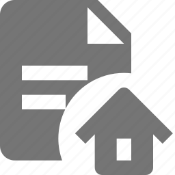 file, home, house, text icon