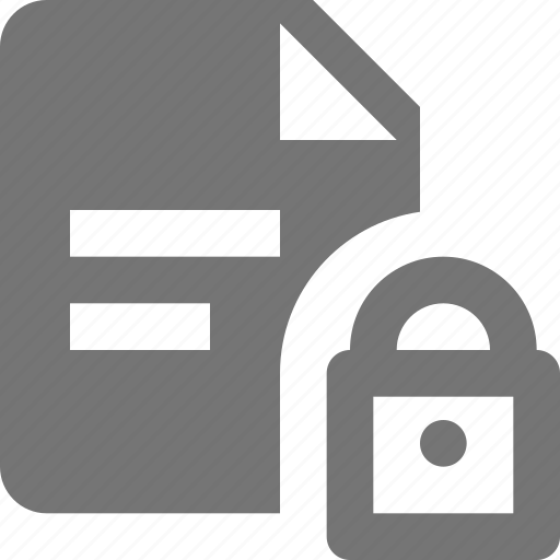 file, lock, privacy, security, text icon