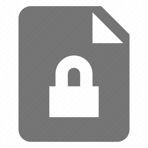 file, lock, privacy, security icon