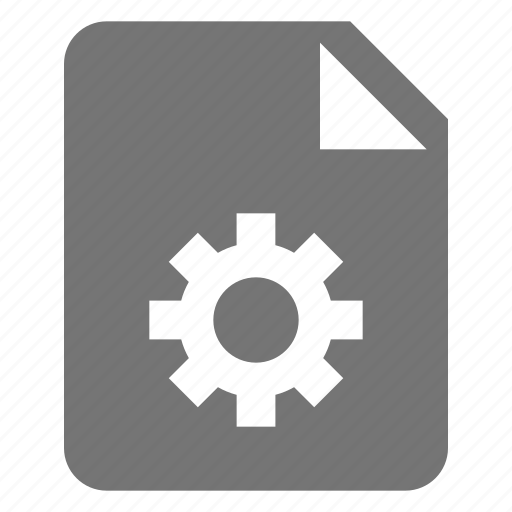 configuration, file, gear, options, settings icon