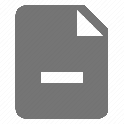 file, minimize, minus icon