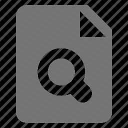file, search, view icon