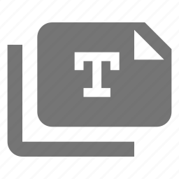 copy, files, text icon