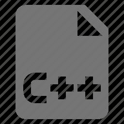 c++, coding, file, programming icon